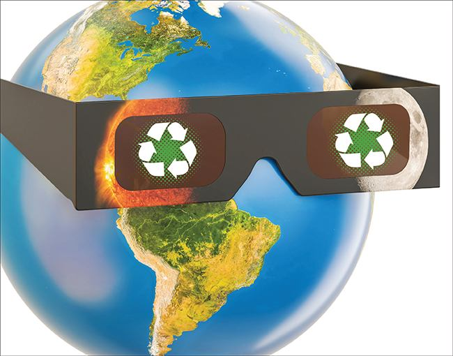 Recycle eclipse glasses