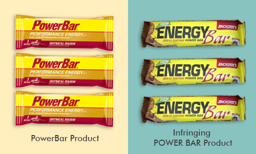 PowerBar product versus competitor product