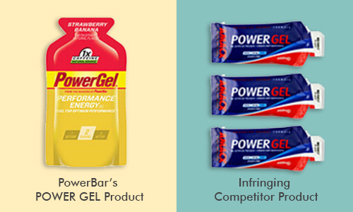 PowerBar POWER GEL product versus competitor product