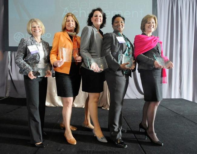 Rhonda Thomas with other 2014 NAWBO winners