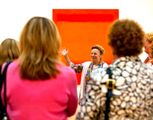 Docent-led tour through the new museum wing