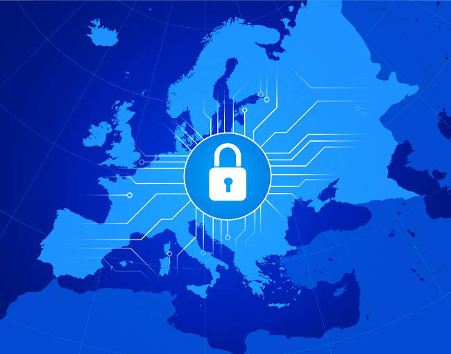 Illustration of cybersecurity for the EU