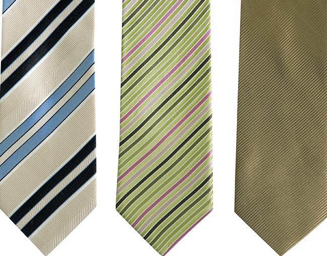 row of fashion ties