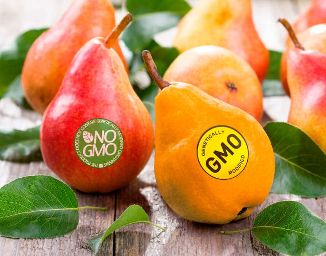 GMO labeled fruit