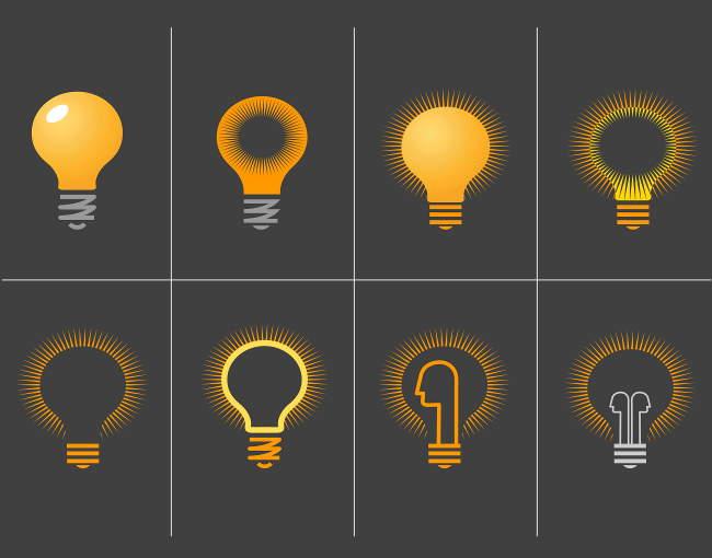 lightbulb grid