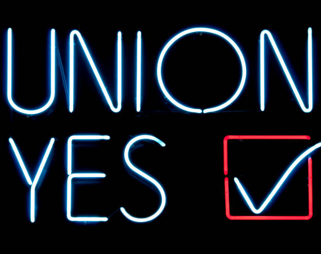 union election sign