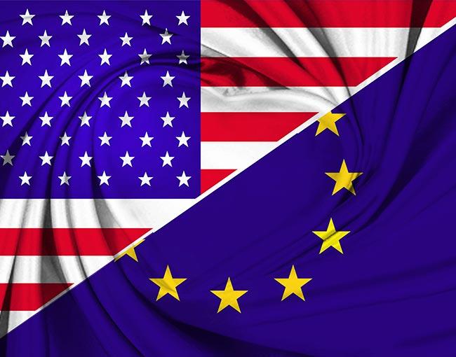 US EU flags