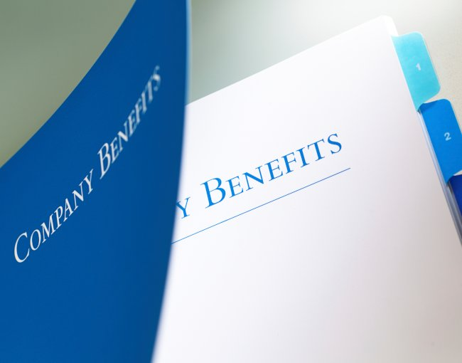 Binder of company benefits