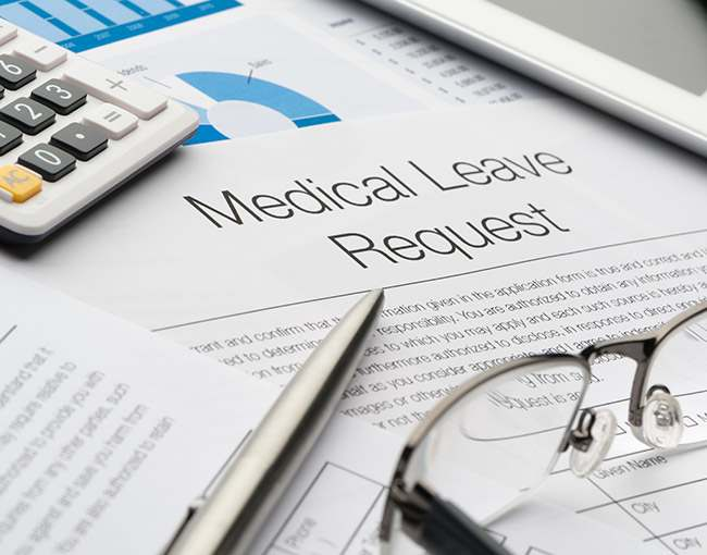 Documents for medical leave