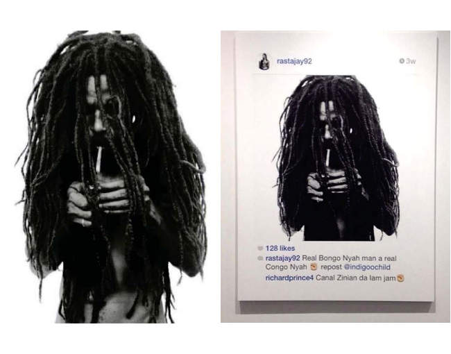 Comparison of Rastafarian images