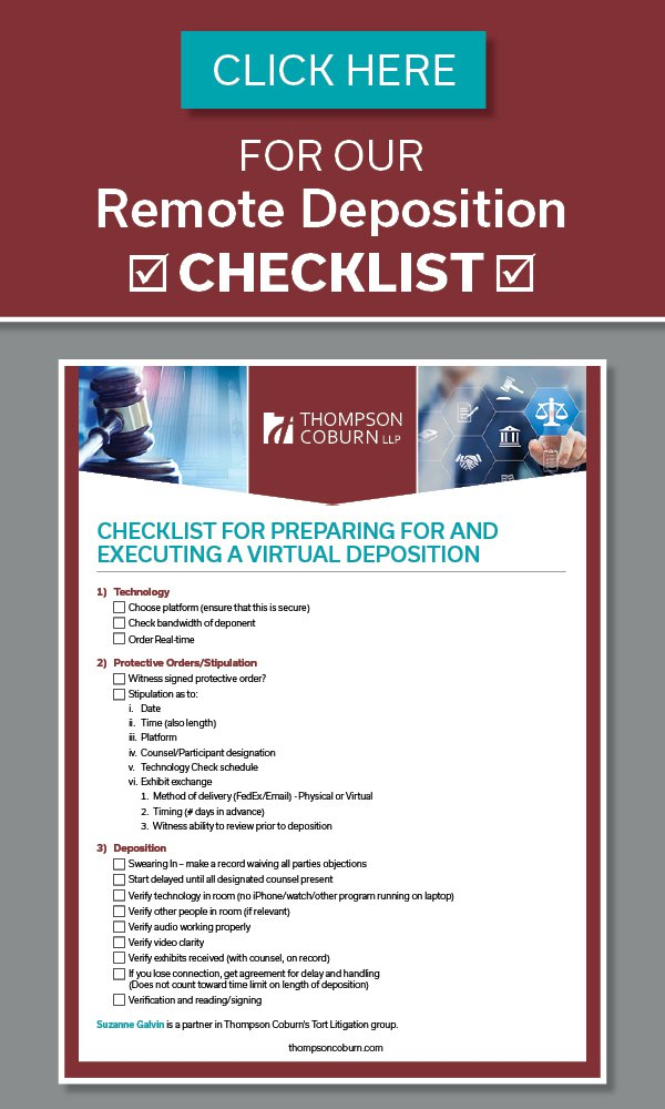 Video deposition checklist