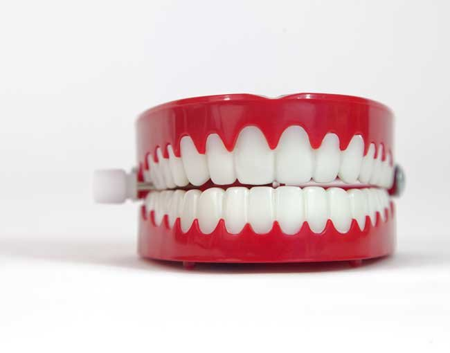 Photo of chattering teeth toy