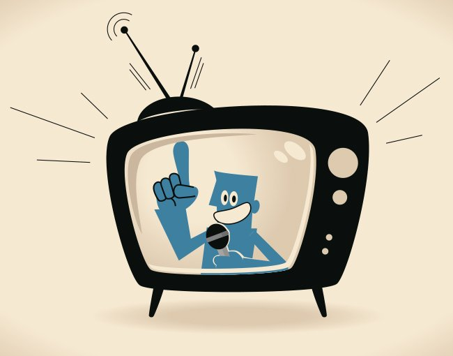 Illustration of television ad
