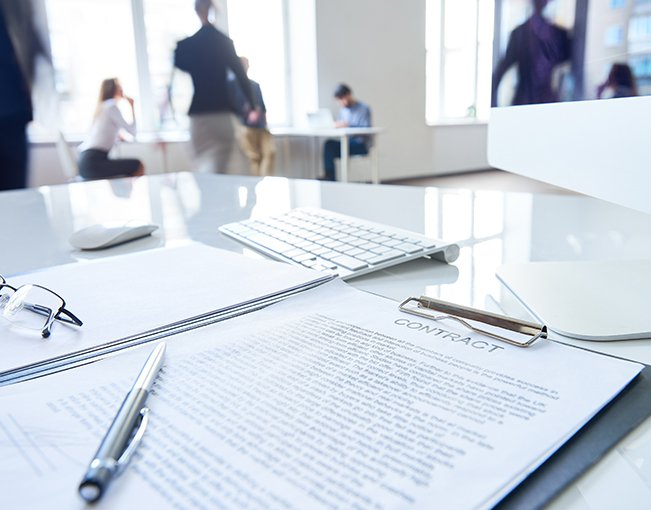Contract in office setting