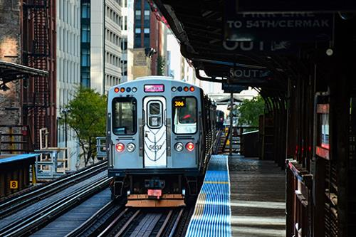 Chicago transit railcar