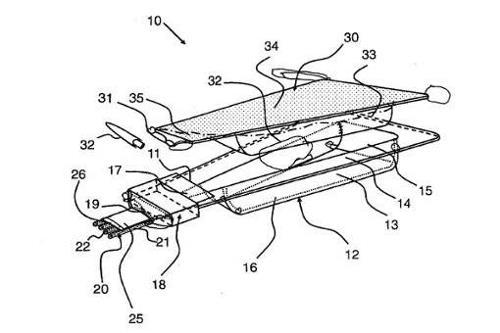 patent drawing of pet medication applicator