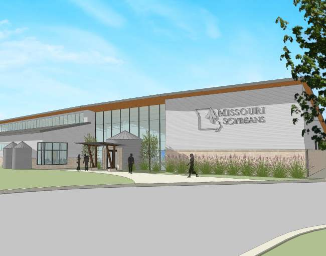 Exterior rendering - Center for Soybean Innovation