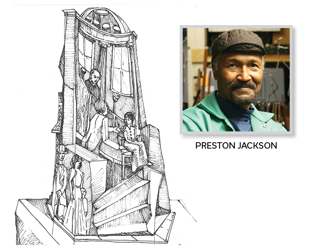 Freedom Suits Memorial and artist Preston Jackson
