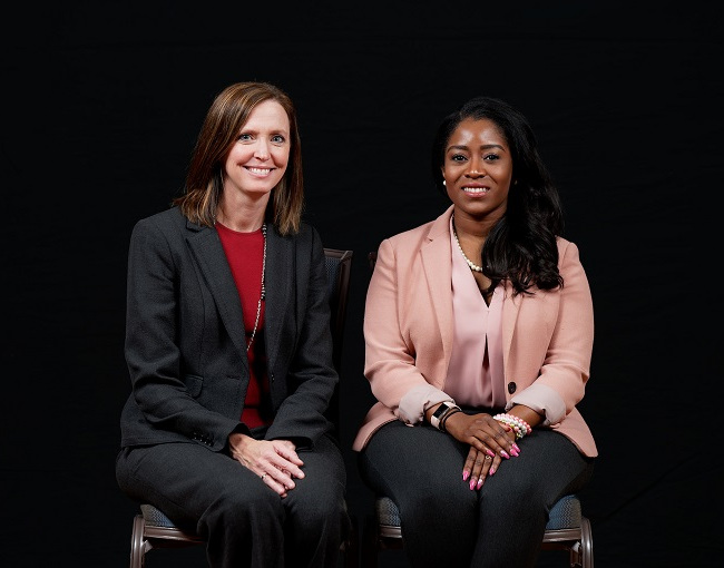 Sarah Wade and Felicia Williams