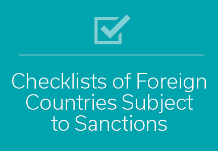 checklist-foreign-countries-subject-sanctions