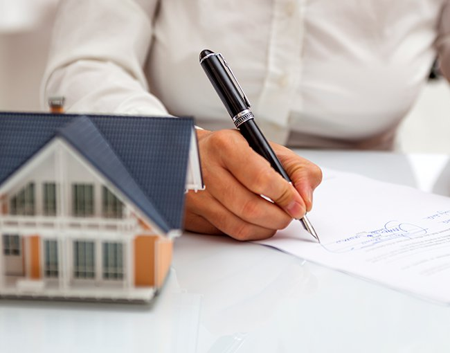 Completing forms for real estate