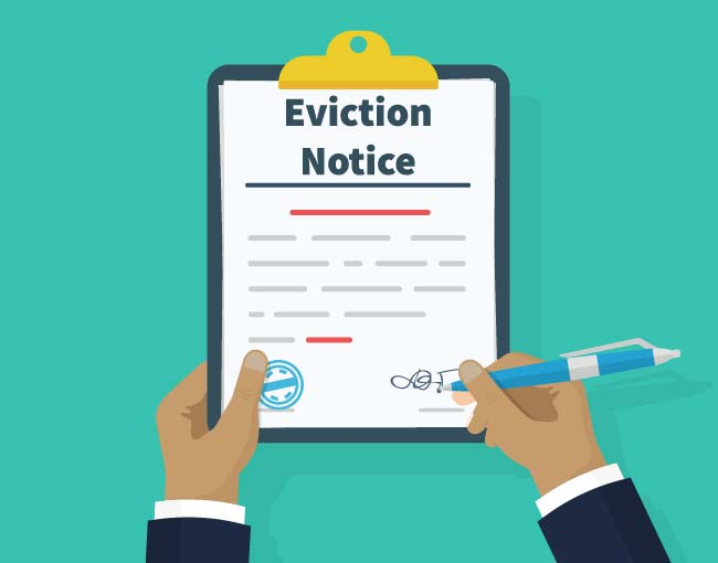 illustration of eviction notice