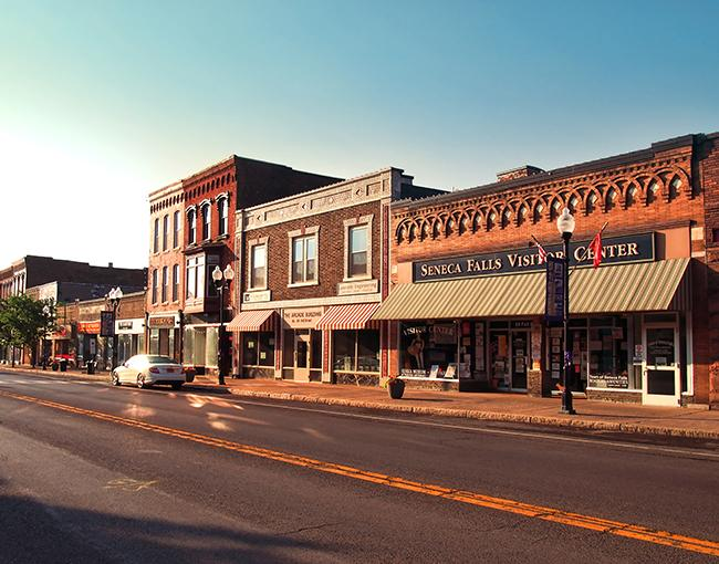 Main street in small-town America